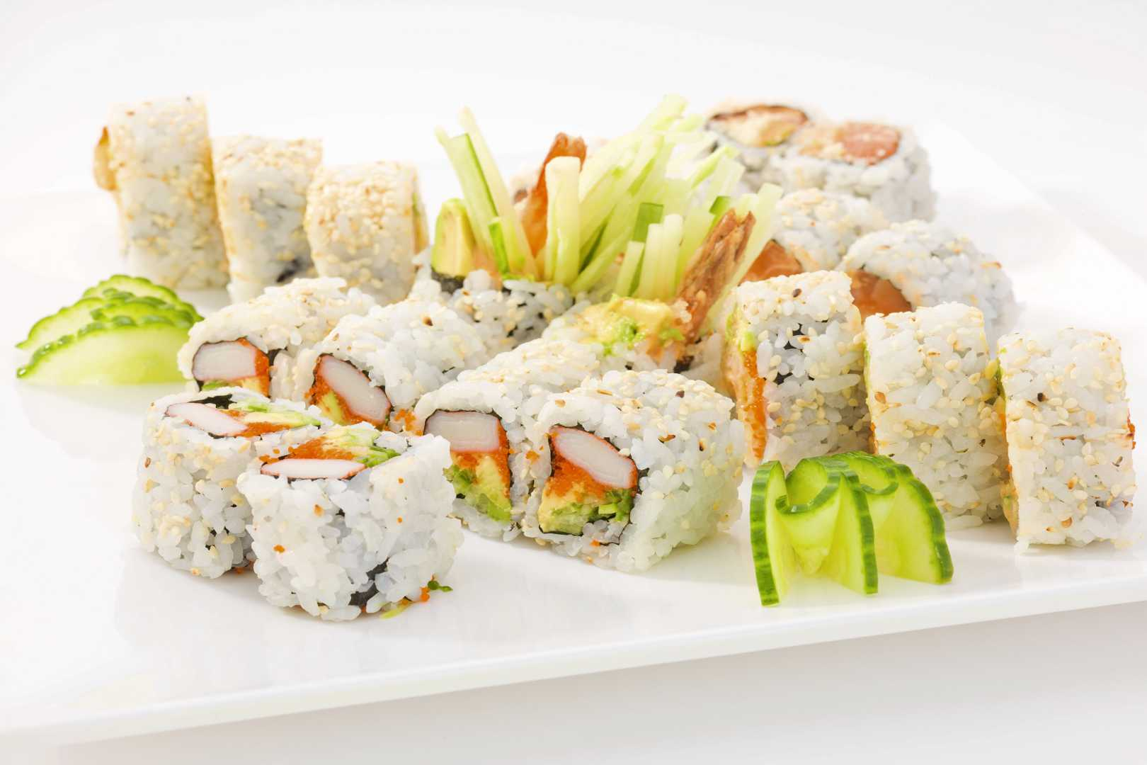 ROLLS COMBINATIONS (INCLUDING MISO SOUP & SALAD)